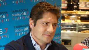 Lluís Fàbregas, director general del Nàstic, durant l'entrevista al Sempre Nàstic