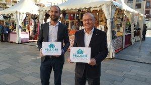 Marc Just i Carles Pellicer durant la presentació de la precampanya electoral
