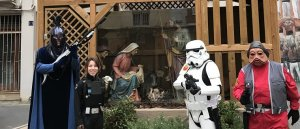 Personatges d'Star Wars, amb un pessebre al Vendrell.