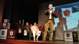 Daniel Rubio, regidor a l'Ajuntament de Reus i candidat a l'alcaldia aquest maig, en la seva intervenció.
