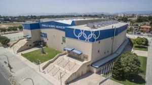 Imatge aèria del Pavelló Olímpic de Reus
