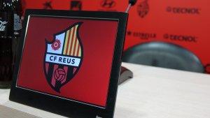 Imatge d'arxiu de la sala de premsa de l'Estadi Municipal de Reus
