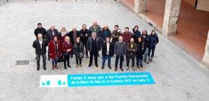Imatge dels responsables que encapçalen cadascuna de les comissions de les Decennals del 2021 a Valls.