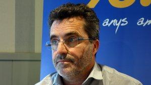 Jordi Virgili, vicepresident del Nàstic, durant una entrevista al Sempre Nàstic de Tarragona Ràdio