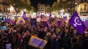 Manifestació feminista 8-M Tarragona