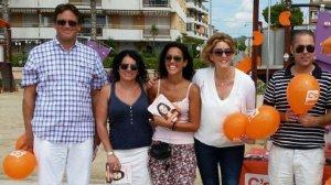 Membres de Cs Cunit, amb Soraya Serrano al centre.