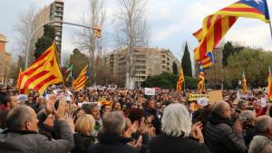 Imatge d'arxiu d'una mobilització independentista a la plaça de la Imperial Tàrraco de Tarragona.