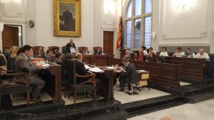 Imatge de la sessió d'aquest dilluns del plenari municipal