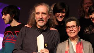 Joan Reig rep el Premi Fada 2019 per la seva cançó 'Corvus'.