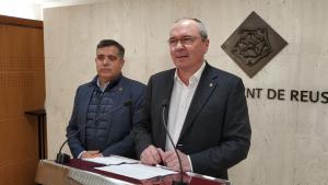 Jordi Cervera, regidor d'Esports de l'Ajuntament de Reus, i Carles Pellicer, alcalde de Reus