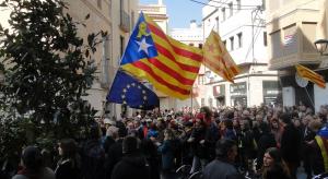 La manifestació d'aquest 21-F ha sortit de la plaça Vella del Vendrell.