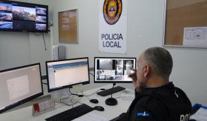 La sala de videovigilància de la policia local de Calafell.