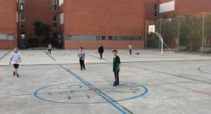 Un dels entrenaments del projecte FutbolNet a l'Arboç.