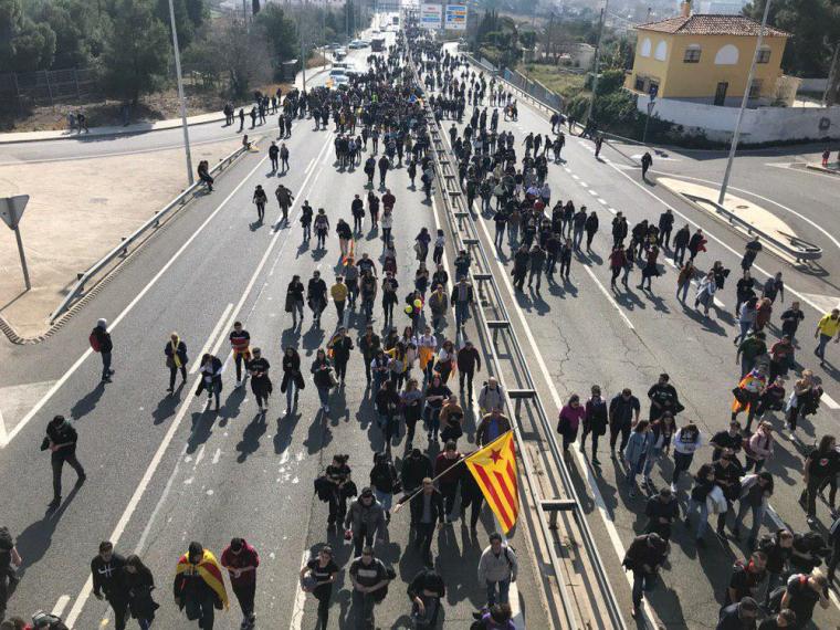 Tall a l'N-240 a Tarragona.