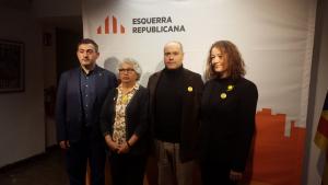 D'esquerra a dreta, Josep Rufà, candidat d'ERC al Senat; Isabel Sales, candidata a la cambra territorial; Jordi Salvadó, cap de llista al Congrés; i Laura Castel, número ú al Senat.