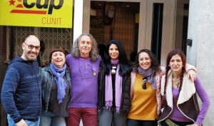 Els impulsors de la candidatura Capgirem Cunit-CUP.