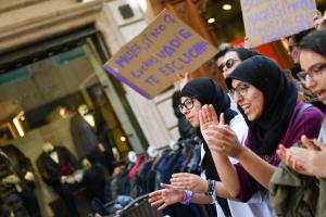 Les imatges de la manifestació feminista pel 8-M del 2019 a Reus