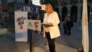 Montserrat Caelles puja fins al quart lloc de la llista de Junts per Reus