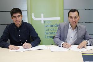 Pablo Mazón i Daniel Rubio han signat un acord de col·laboració entre el Clúster TIC i la Fundació Mas Carandell