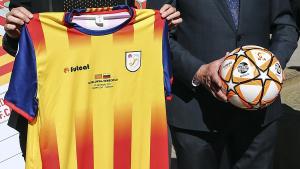 Samarreta que lluirà Catalunya davant Veneçuela aquest dilluns