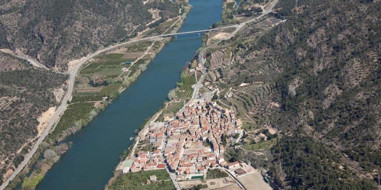 Imatge aèria de Benifallet