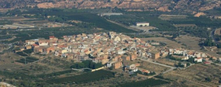Imatge aèria de la Torre de l'Espanyol
