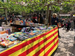 Imatge de la diada de Sant Jordi de 2019 a Valls