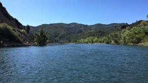 El riu Ebre al seu pas per Ascó