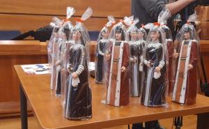 es figures dels Gegants Teresa i Salvador del Vendrell.