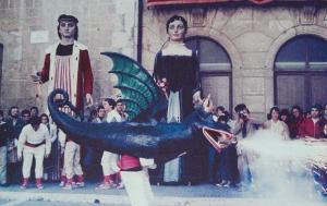 Imatge del Drac Coronat del Vendrell, de principis dels anys 80.