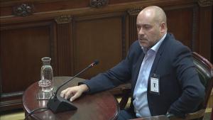 Jordi Salvador, diputat d'ERC, aquest dimarts al Tribunal Suprem