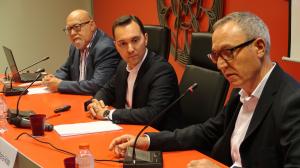 La conferència de Dani Rubio l'ha presentat el periodista Josep Maria Arias