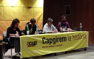 L'acte de presentació de la candidatura de la CUP de Calafell.
