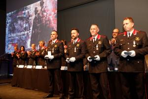 Moment de l'entrega de guardons i reconeixements durant la celebració del Dia de les Esquadres