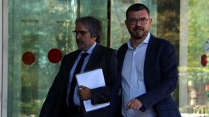 Quim Nin, a la dreta, el dia que va declarar al Jutjat número 13 de Barcelona.