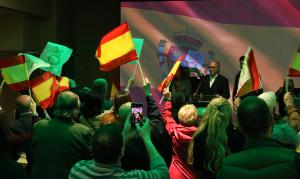Vox celebrant l'escó a Catalunya.