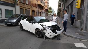 Accident a la la cruïlla dels carrers Jaume I i Reial