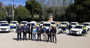 Aigües del Vendrell ha presentat els 14 nou vehicles.