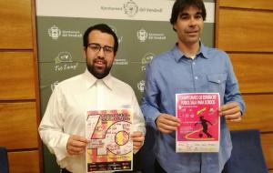 Àlex Pateiro i Ferran Trillas, presentant els campionats de futbol sala per a sords.