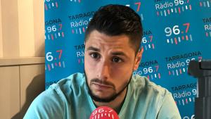 Bernabé Barragán durant la seva entrevista al Sempre Nàstic