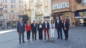 D'esquerra a dreta, Eduard Rovira; Noemí Llauradó; Josep Andreu; Eva Mata; Jordi Cartanyà; Irene Aragonès; Pau Ricomà i Camí Mendoza.