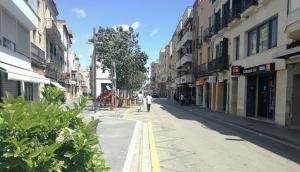 El carrer del Doctor Robert del Vendrell.