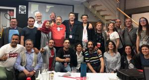 El PSC del Vendrell, celebrant el triomf a les municipals del 2019.