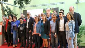 Foto de família de la candidatura del PSC de Reus