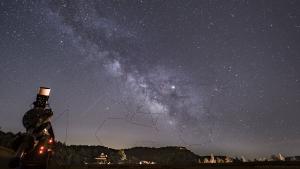 Imatge de la pluja d'estrelles dels Aquàrids des de Prades