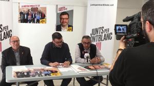 Imatge de la presentació de la situació econòmica de l'Ajuntament de Montblanc, per part de Junts per Montblanc.