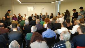 Imatge del debat organitzat per l'Associació de Veïns d'Horts de Miró de Reus