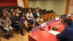 Imatge del públic de la conferència de Débora García