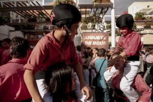 Imatges de la diada al Pallol en jornada de reflexió