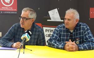 Josep Maria Llasat i Jordi Pell, a la seu de Primàries el Vendrell.
